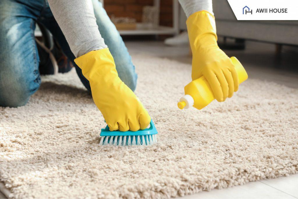 ทำความสะอาดบ้านด้วยผลิตภัณฑ์ฆ่าเชื้อ 2